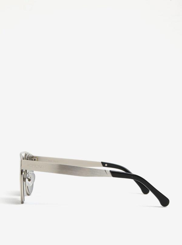 Pánske slnečné okuliare v striebornej farbe Komono Finley