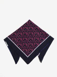 Tmavomodrá vzorovaná šatka Pieces Mia
