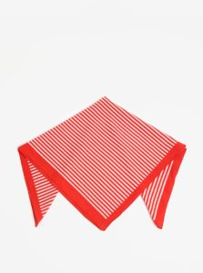 Bielo-červená pruhovaná šatka Pieces Molly