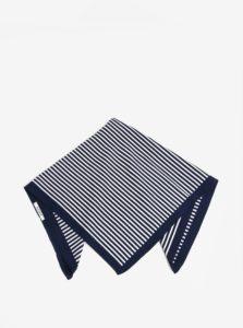 Bielo-modrá pruhovaná šatka Pieces Molly