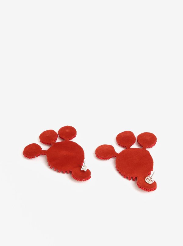 Červené náušnice z korálikov Pieces Manilla