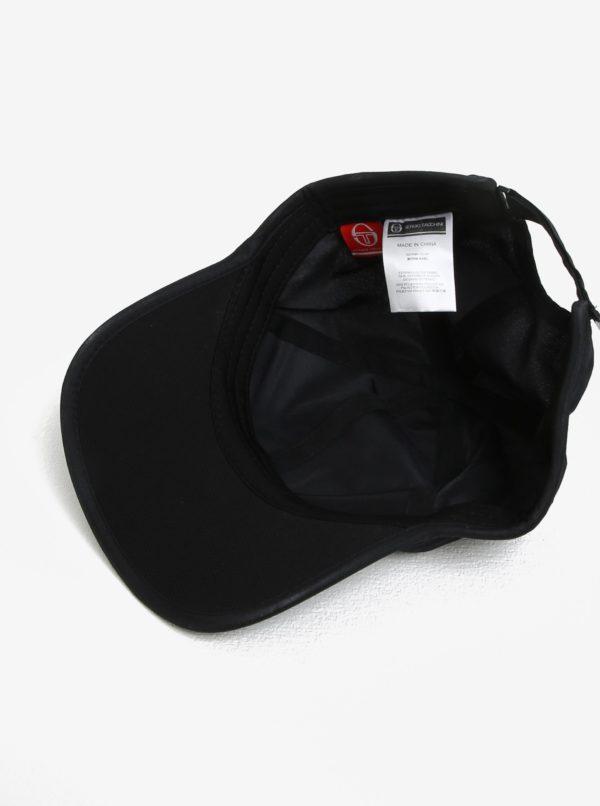 Čierna pánska šiltovka s výšivkou Sergio Tacchini Pro
