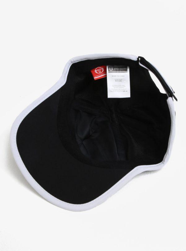 Čierno-biela pánska šiltovka s výšivkou Sergio Tacchini Club Tech