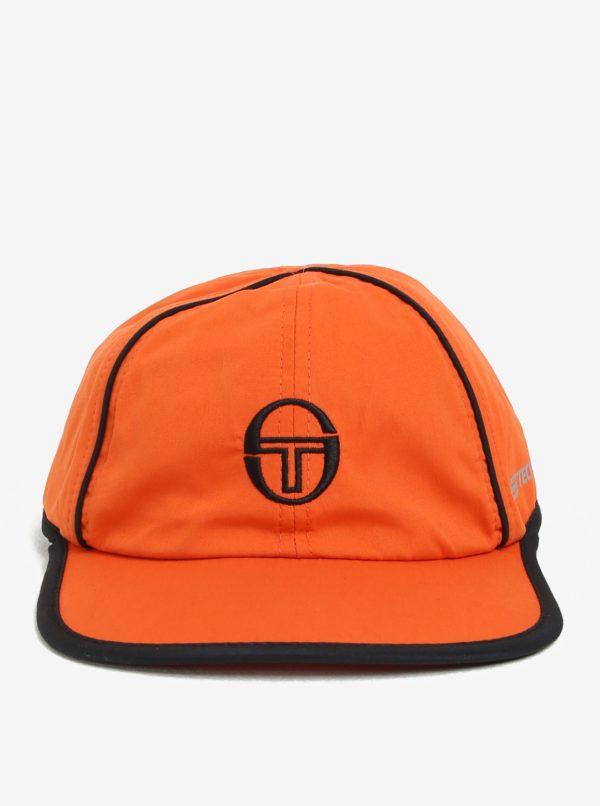 Oranžová pánska šiltovka s výšivkou Sergio Tacchini Club Tech