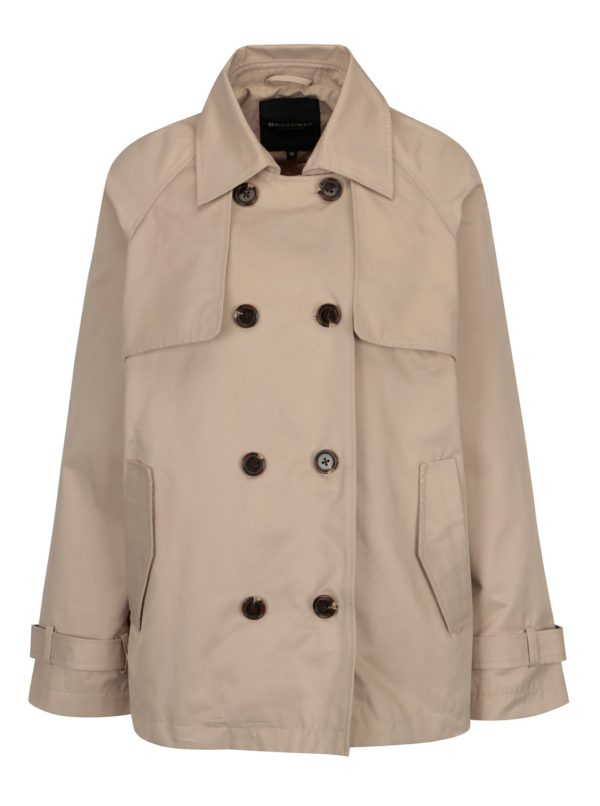 Béžový dámsky krátky kabát Broadway Breena