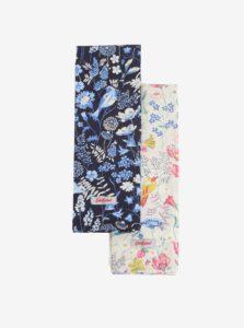 Súprava dvoch kuchynských kvetovaných utierok v modrej a krémovej farbe Cath Kidston