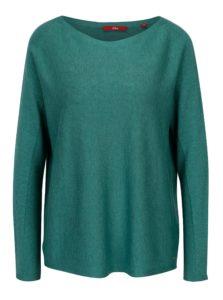 Petrolejový dámsky tenký oversize sveter s.Oliver