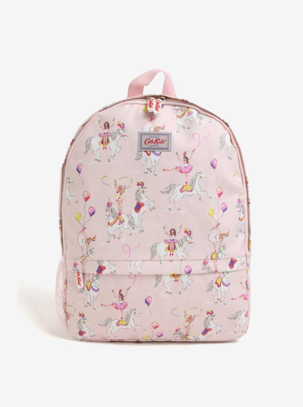 Svetloružový dievčenský batoh s potlačou Cath Kidston