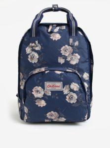 Tmavomodrý dámsky kvetovaný batoh Cath Kidston