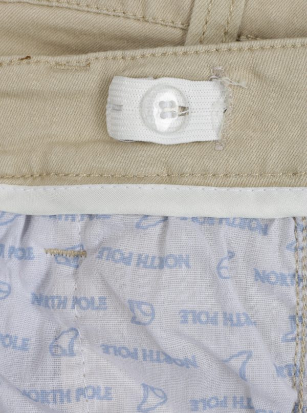 Svetlohnedé chlapčenské nohavice s asymetrickým zapínaním Norh Pole Kids