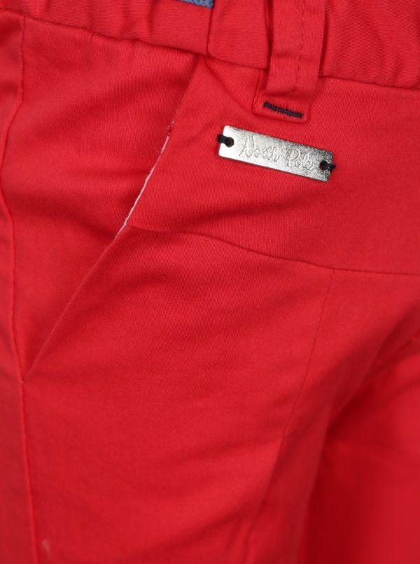 Červené chlapčenské nohavice North Pole Kids
