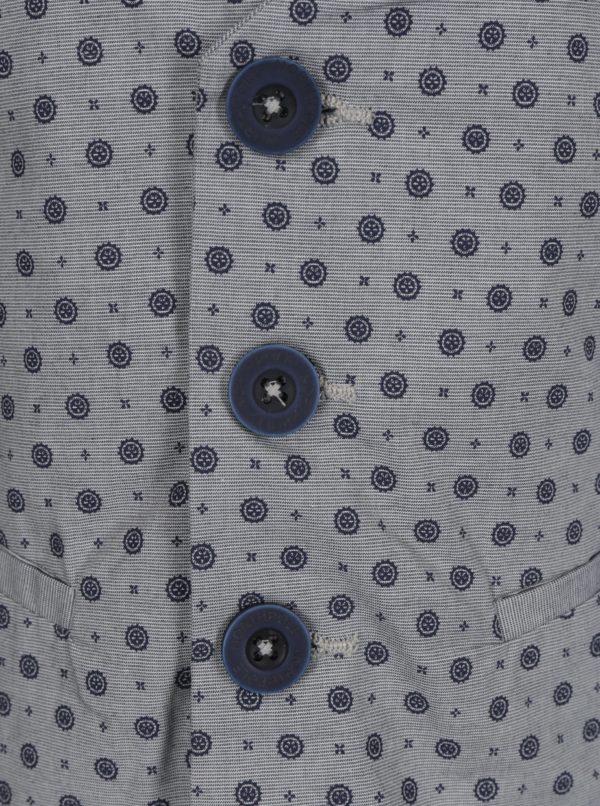 Modro-sivá vzorovaná chlapčenská vesta North Pole Kids