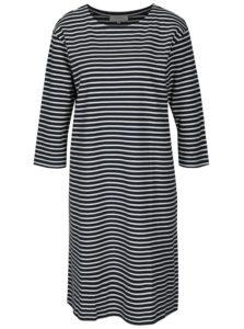 Krémovo–modré pruhované šaty s 3/4 rukávom Selected Femme Ava
