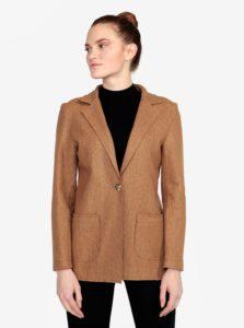 Svetlohnedý vzorovaný krátky kabát ZOOT