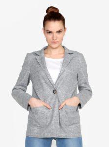 Sivý melírovaný krátky kabát ZOOT ad3eca641f1
