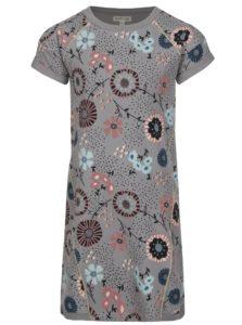 Sivé vzorované dievčenské mikinové šaty small rags Gerda