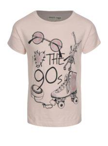 Ružové dievčenské tričko s trblietavou potlačou small rags Gerda