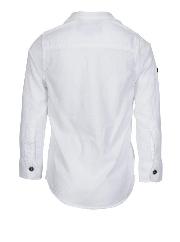 Biela chlapčenská košeľa s jemným vzorom North Pole Kids