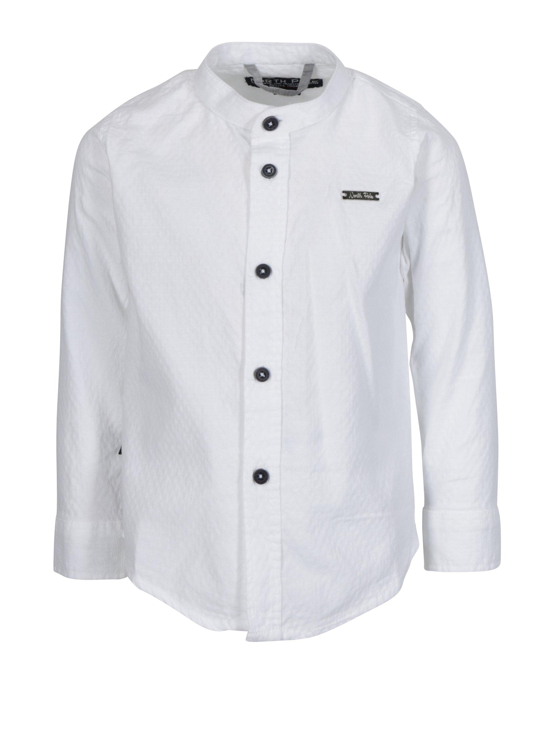 c860672f6d7c Biela chlapčenská košeľa s jemným vzorom North Pole Kids