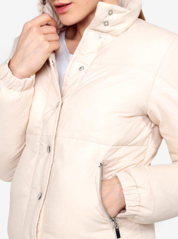 Krémová zimná bunda Miss Selfridge