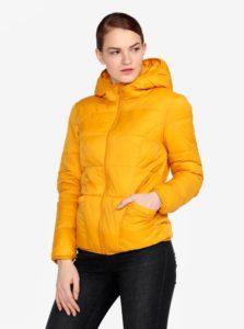 Horčicová prešívaná bunda s kapucňou Miss Selfridge