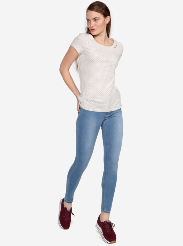 Béžové bodkované melírované tričko Ragwear Mint Dots