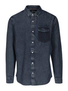 Modrá rifľová regular košeľa ONLY & SONS Neville