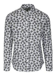 Čierno-biela vzorovaná slim fit košeľa ONLY & SONS Torres