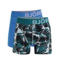 Súprava dvoch boxeriek v modrej a zelenej farbe Björn Borg