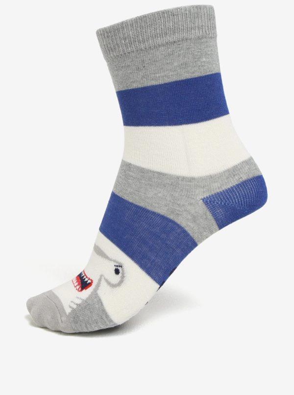 Súprava troch párov chlapčenských ponožiek s motívom žraloka Tom Joule Brilliant