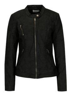 Čierna koženková bunda ONLY Steady