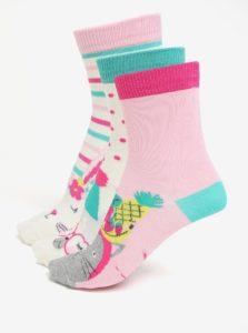 Súprava troch párov dievčenských ponožiek s motívom zvierat Tom Joule Brilliant