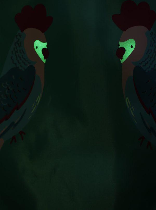 Tyrkysový dievčenský vak s potlačou papagájov Tom Joule Active