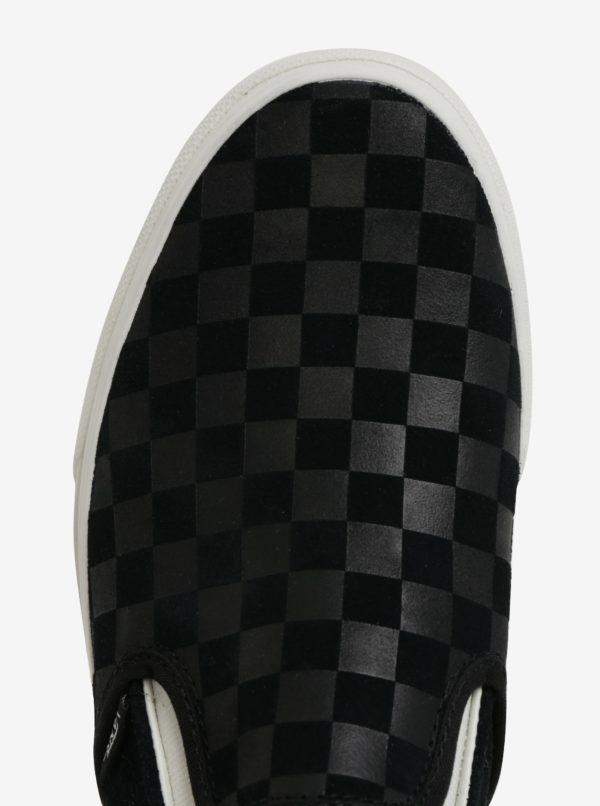 Čierne pánske semišové slip on VANS Classic