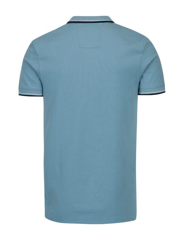 Modrá polokošeľa s výšivkou Selected Homme Newseason