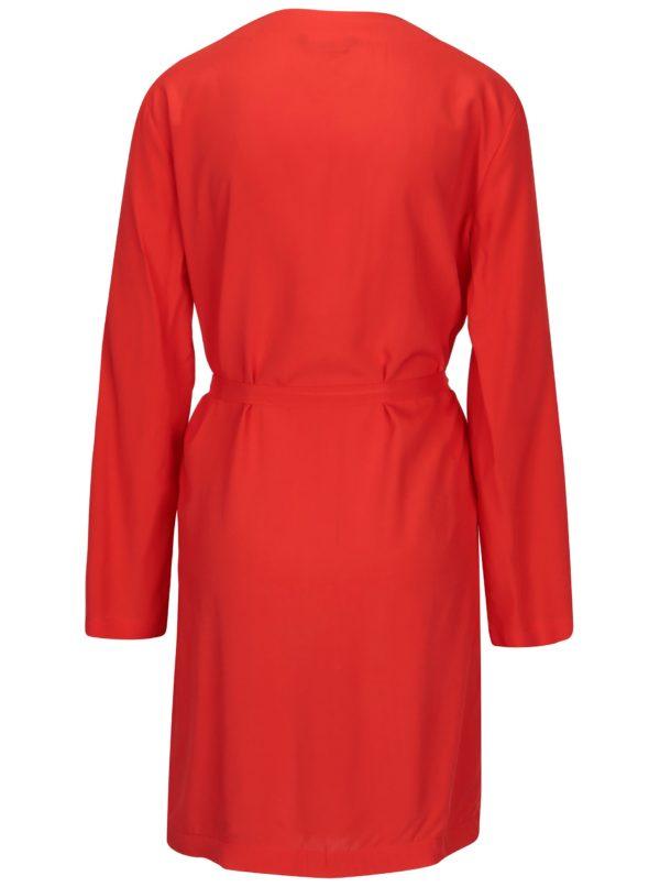Červené kimono s opaskom ONLY Nova