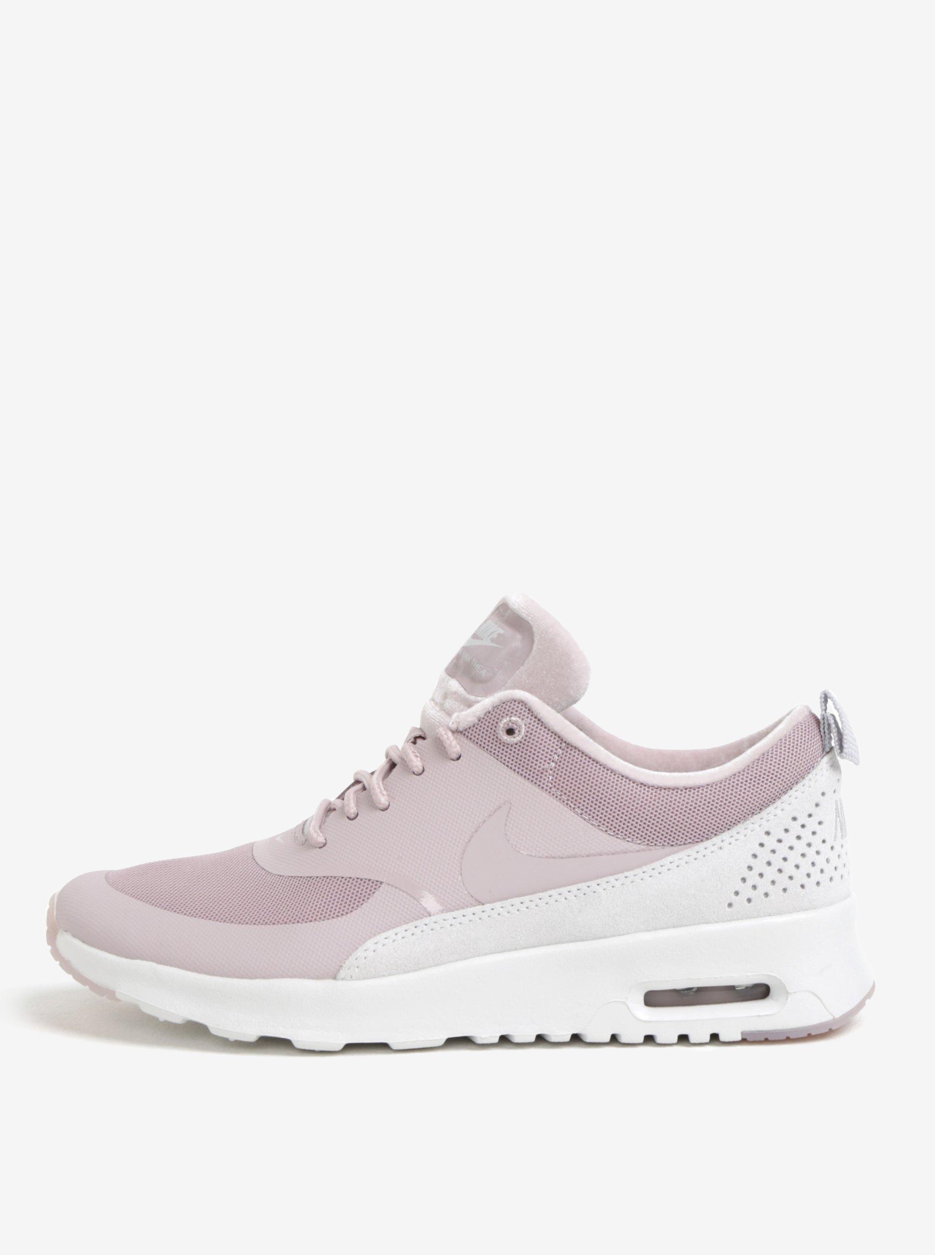 0e3ee8c0c4 Svetloružové dámske tenisky so semišovými detailmi Nike Air Max Thea ...