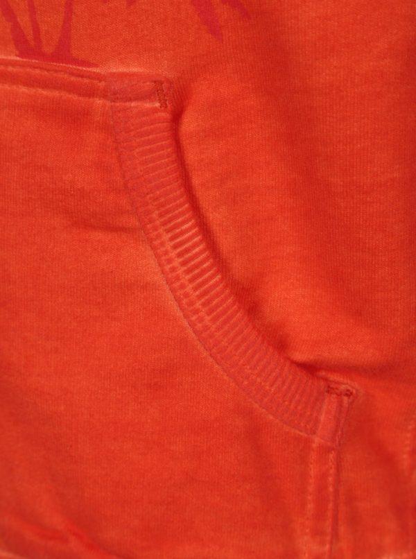 Oranžová chlapčenská mikina s potlačou na zips Bóboli