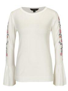 Biely sveter s kvetovanou výšivkou Dorothy Perkins