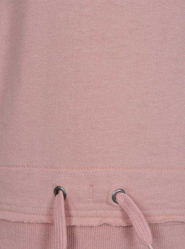 Sivo-ružová dievčenská mikina s kapucňou name it Dylan