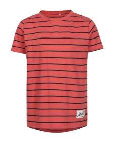 Koralové pruhované chlapčenské tričko name it Henrik