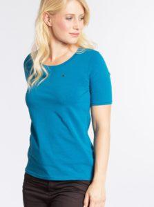 Modré basic tričko s krátkym rukávom Blutsgeschwister