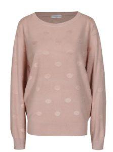 Svetloružový bodkovaný sveter Jacqueline de Yong Rosie
