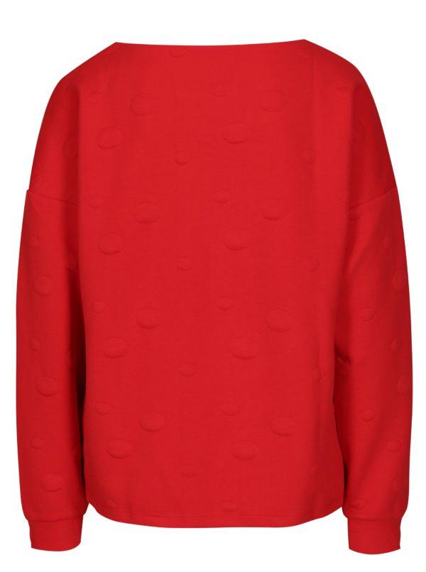Červená bodkovaná mikina Jacqueline de Yong Arra