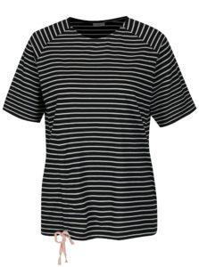 Čierne pruhované tričko Jacqueline de Yong Buzz