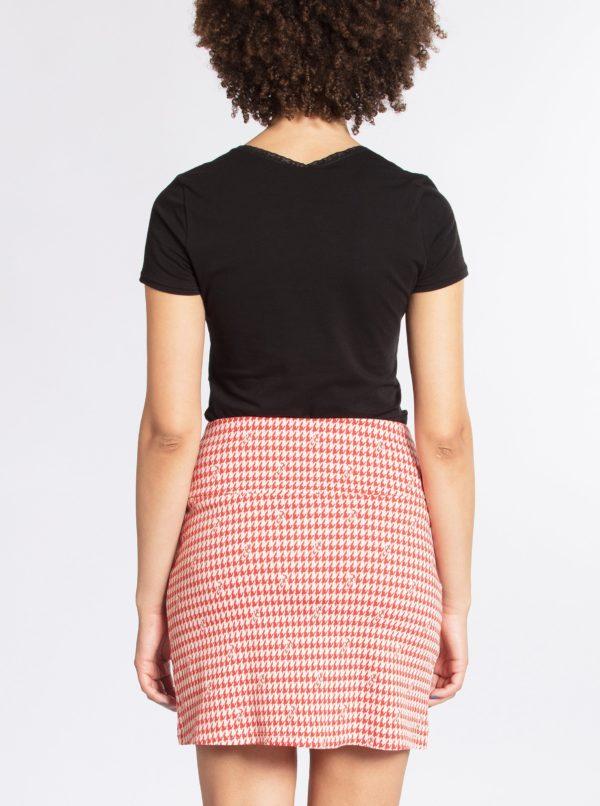 Červená puzdrová vzorovaná sukňa Blutsgeschwister