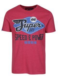 Ružové tričko s potlačou Superdry Classic