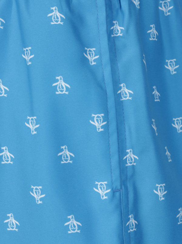 Modré vzorované plavky Original Penguin Penguin