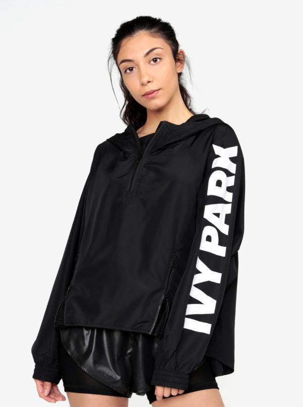 Čierny šuštiakový anorak s kapucňou Ivy Park
