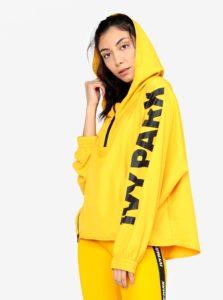 Žltý šuštiakový anorak s kapucňou Ivy Park